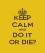 KEEP CALM AND DO IT OR DIE? - Personalised Poster A4 size
