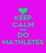 KEEP CALM AND DO MATHLETES - Personalised Poster A4 size