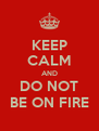 KEEP CALM AND DO NOT BE ON FIRE - Personalised Poster A4 size