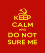 KEEP CALM AND DO NOT SURE ME - Personalised Poster A4 size