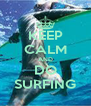 KEEP CALM AND DO SURFING - Personalised Poster A4 size