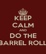 KEEP CALM AND DO THE BARREL ROLL - Personalised Poster A4 size