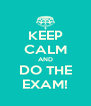 KEEP CALM AND DO THE EXAM! - Personalised Poster A4 size