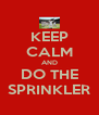 KEEP CALM AND DO THE SPRINKLER - Personalised Poster A4 size