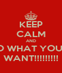 KEEP CALM AND DO WHAT YOU..... WANT!!!!!!!!! - Personalised Poster A4 size