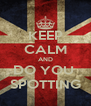 KEEP CALM AND DO YOU  SPOTTING - Personalised Poster A4 size
