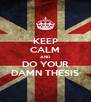 KEEP CALM AND DO YOUR DAMN THESIS - Personalised Poster A4 size