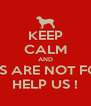 KEEP CALM AND DOGS ARE NOT FOOD  HELP US ! - Personalised Poster A4 size