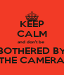 KEEP CALM and don't be  BOTHERED BY THE CAMERA - Personalised Poster A4 size