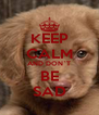 KEEP CALM AND DON`T BE SAD - Personalised Poster A4 size
