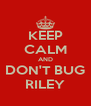 KEEP CALM AND DON'T BUG RILEY - Personalised Poster A4 size