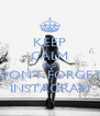 KEEP CALM AND DON'T FORGET INSTAGRAM - Personalised Poster A4 size