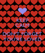 KEEP CALM AND DON'T FORGET YOU'RE LOVED - Personalised Poster A4 size