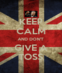 KEEP CALM AND DON'T GIVE A TOSS - Personalised Poster A4 size