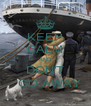 KEEP CALM AND DON'T   GO AWAY - Personalised Poster A4 size