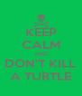 KEEP CALM AND DON'T KILL A TURTLE - Personalised Poster A4 size