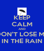 KEEP CALM AND DON'T LOSE ME IN THE RAIN - Personalised Poster A4 size