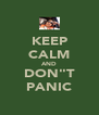 "KEEP CALM AND DON""T PANIC - Personalised Poster A4 size"