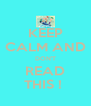 KEEP CALM AND DON'T READ THIS !  - Personalised Poster A4 size