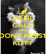 KEEP CALM AND DON'T RESIST KITTY - Personalised Poster A4 size