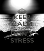 KEEP CALM AND DON'T STRESS - Personalised Poster A4 size