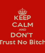 KEEP CALM AND DON'T  Trust No Bitch - Personalised Poster A4 size