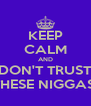 KEEP CALM AND DON'T TRUST THESE NIGGAS  - Personalised Poster A4 size