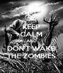 KEEP CALM AND DON'T WAKE THE ZOMBIES - Personalised Poster A4 size