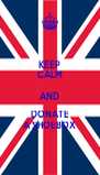 KEEP CALM AND DONATE A SHOEBOX - Personalised Poster A4 size