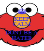 KEEP CALM AND DONT BE A HATER - Personalised Poster A4 size