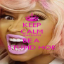 KEEP CALM AND DONT BE A  STUPID HOE - Personalised Poster A4 size