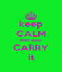 keep CALM AND dont  CARRY it - Personalised Poster A4 size