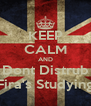 KEEP CALM AND Dont Distrub Fira's Studying - Personalised Poster A4 size