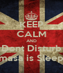 KEEP CALM AND Dont Disturb Damasa is Sleeping - Personalised Poster A4 size