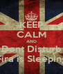 KEEP CALM AND Dont Disturb Fira is Sleeping - Personalised Poster A4 size