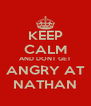 KEEP CALM AND DONT GET ANGRY AT NATHAN - Personalised Poster A4 size