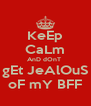 KeEp CaLm AnD dOnT  gEt JeAlOuS oF mY BFF - Personalised Poster A4 size