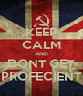 KEEP CALM AND DONT GET PROFECIENT - Personalised Poster A4 size