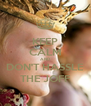 KEEP CALM AND DON'T HASSLE THE JOFF - Personalised Poster A4 size