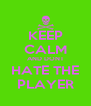 KEEP CALM AND DONT HATE THE PLAYER - Personalised Poster A4 size
