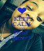 KEEP CALM AND Don't  Hate<3 - Personalised Poster A4 size