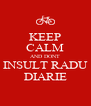 KEEP CALM AND DONT INSULT RADU DIARIE - Personalised Poster A4 size