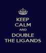 KEEP CALM AND DOUBLE THE LIGANDS - Personalised Poster A4 size