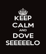 KEEP CALM AND DOVE SEEEEELO - Personalised Poster A4 size