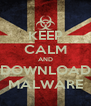 KEEP CALM AND DOWNLOAD MALWARE - Personalised Poster A4 size
