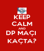 KEEP CALM AND DP MAÇI  KAÇTA? - Personalised Poster A4 size