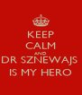 KEEP CALM AND DR SZNEWAJS  IS MY HERO - Personalised Poster A4 size