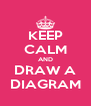 KEEP CALM AND DRAW A DIAGRAM - Personalised Poster A4 size
