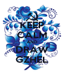 KEEP CALM AND DRAW GZHEL - Personalised Poster A4 size