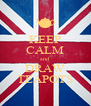 KEEP CALM and DRAW TEAPOTS - Personalised Poster A4 size